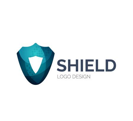 escudo: Secure dise�o icono de escudo hecho de piezas de color