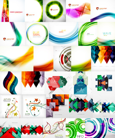 magazine layout: Set of Vector Abstract Backgrounds