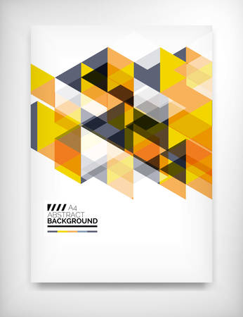 business template: Geometric abstract business template Illustration