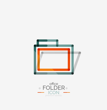 accounting logo: Folder logo, stamp. Accounting binder