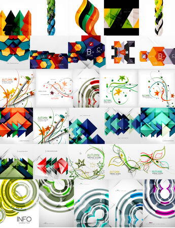 a4 background: Set of Vector Abstract Backgrounds