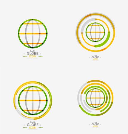 World globe logo stamp