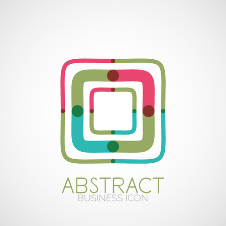 Symmetric abstract geometric shape, business symbol or logo design, loop Vector
