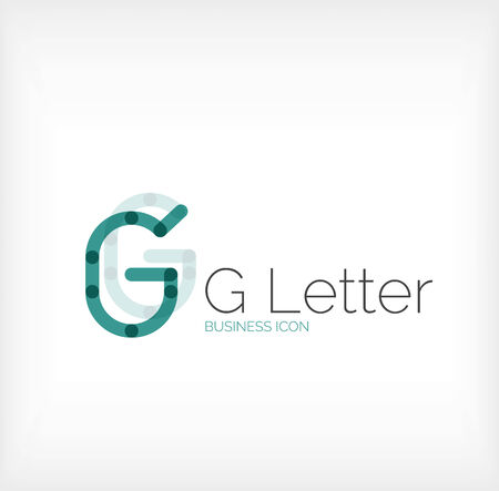 G letter logo, minimal line design, business icon Vector