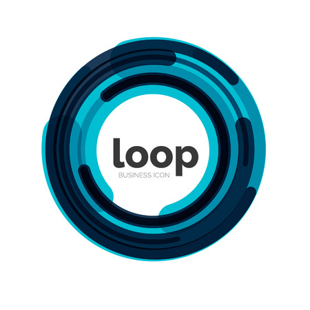 Loop, infinity business icon Vector
