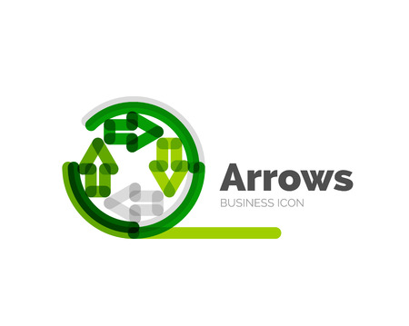 logo business: Line minimal design logo arrows