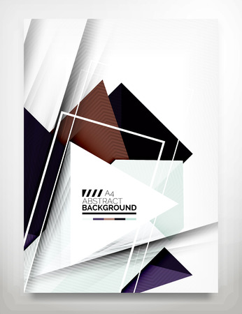 Flyer, Brochure Design Template, Business Abstract Geometric Background, Web or Print Design Vector