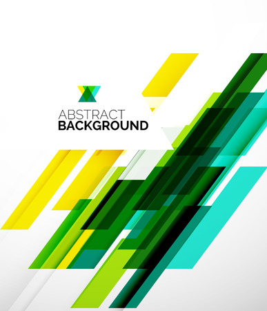 green lines: Abstract flyer template design background