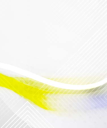 Abstract Background - Yellow shiny blurred wave Illustration
