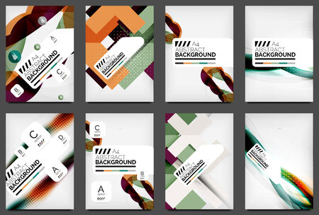Set of Flyer Templates, Business Web Layouts Vector
