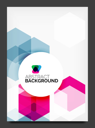 flyer template: Abstract modern flyer  Illustration