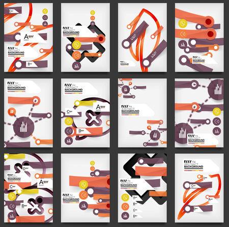 Set of Flyers, Brochure Design Templates Vector