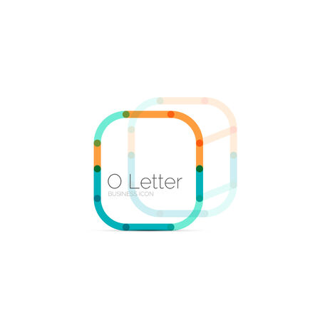 Minimal font or letter icon design Vector