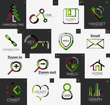 Abstract icon vector collection Illustration