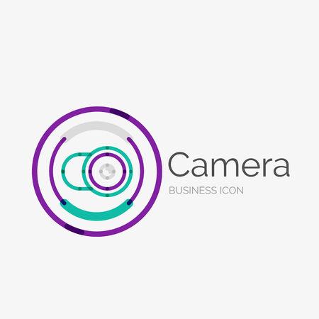 Thin line neat design icon, camera concept Vector