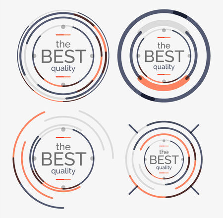 Thin line neat design set Vector