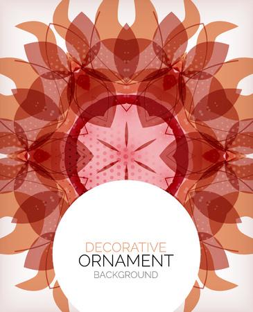 Decorative retro ornaments background Vector