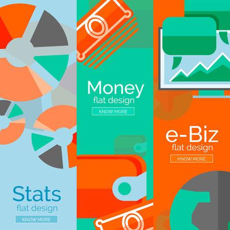 Money, business, e-commerce concepts Vector