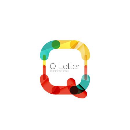 Minimal Q font or letter logo design Vector