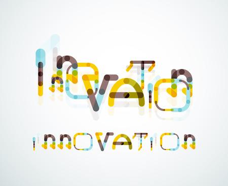 innovation word: Innovation word concept Illustration