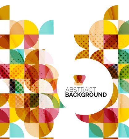 graphic element: Circle geometric abstract background Illustration