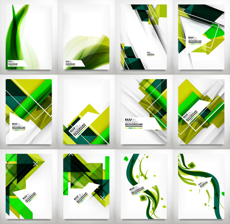 Flyers, Brochure Design Template Set Vector