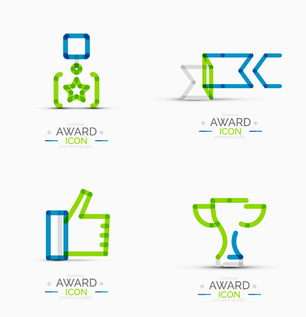 Award icon set, Logo collection Vector