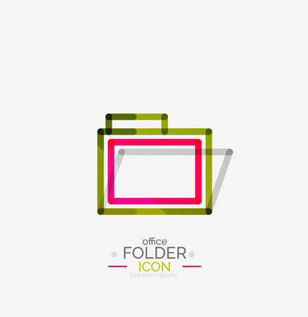 Folder, stamp. Accounting binder Vector