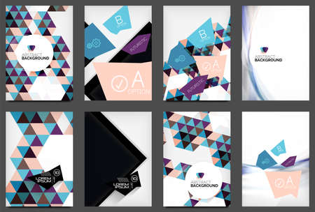 Set of A4 Flyers Vector