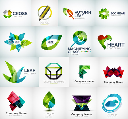 Abstract company  vector collection Vector