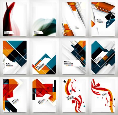 チラシ、パンフレット デザイン テンプレート セット