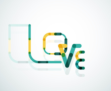 Love word font concept Vector