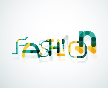 Fashion word font concept Vector