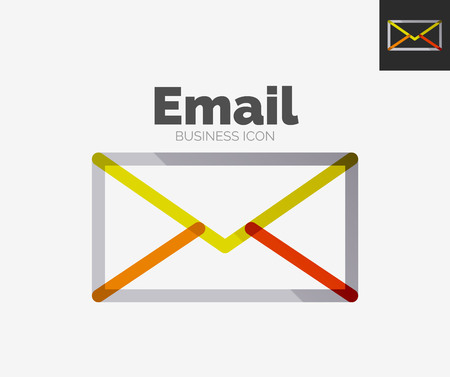 Minimal line design  , business email icon, branding emblem Vector