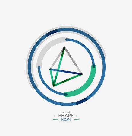 Pyramid shape line design Vector