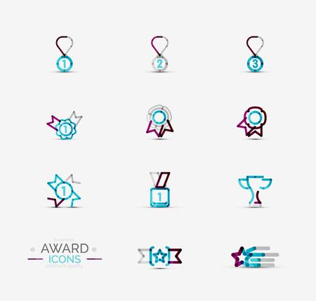 Award icon set, collection Vector