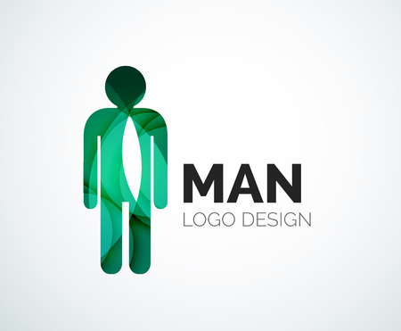 Abstract  - man icon Vector