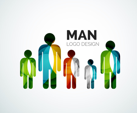 Abstract  - man icon Vector