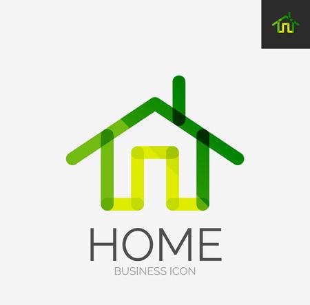 ikony: Linia minimalistyczny design ikona, ikona domu