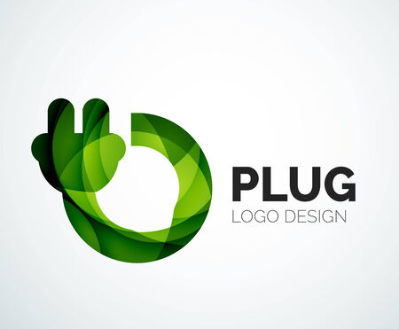 electricity company: Abstract logo - plug icon