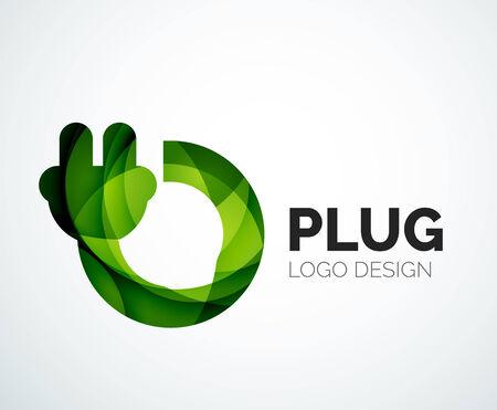 Abstract logo - plug icon