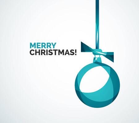 Merry Christmas card - abstract ball, bauble Çizim