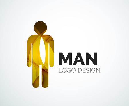 Abstract- man icon Vector