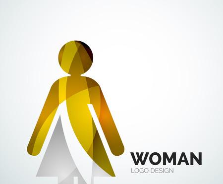 Abstract company icon design elemnet - woman icon Vector