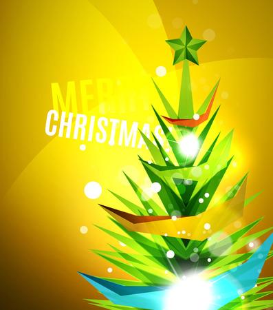 chrismas card: Colorful bright shiny Chrismas card