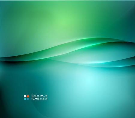green lines: Green and blue blurred design template Illustration