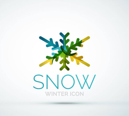 merry chrismas: Christmas snowflake company logo design