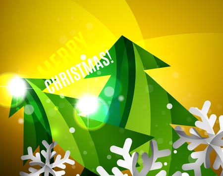 Colorful bright shiny Chrismas card Vector