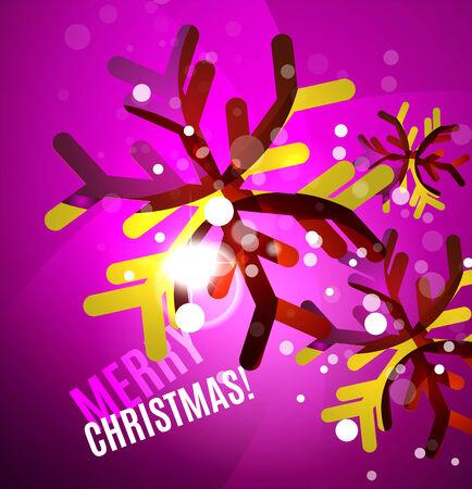 chrismas: Colorful bright shiny Chrismas card