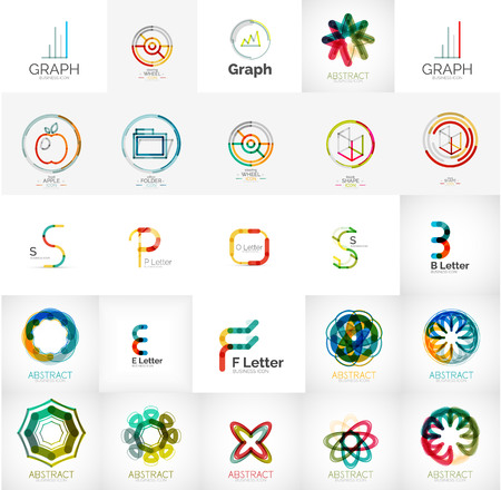 abstract logos: Collection of abstract universal logos